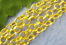3ft Gold Plated Findings Link opened Cable Chains 3x4mm Jewelry making  DIY