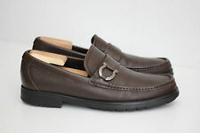 Salvatore Ferragamo 'Biliardo' Bit Loafer - Brown Pebbled Leather - 8.5 D (R69)