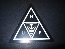 "OBEY X HUF WORLDWIDE Skate Sticker BlkWht Triangle 3"" decal Shepard Fairey"