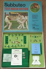 VINTAGE SUBBUTEO TABLE Test Match Cricket EDIZIONE GIOCO c1974-75 COMPLETO