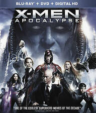 X-Men: Apocalypse (Blu-ray/DVD, 2016, 2-Disc Set) Free Shipping Brand New Sealed