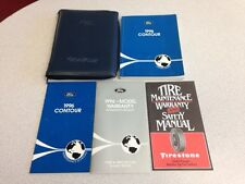 1996 FORD CONTOUR OWNERS MANUAL CASE SET - 5/PCS - VERY GOOD CONDITION
