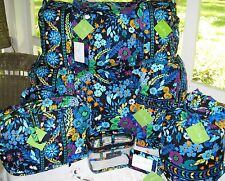 Vera Bradley~MIDNIGHT BLUES~Large~Small DUFFEL~COSMETIC~DITTY~Luggage Tag~IRON