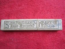 SIMON PURE CUTLERY Co. MAGNETIZED GERMANY STRAIGHT RAZOR EMPTY BOX ONLY