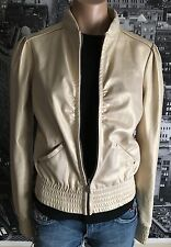 MISS SIXTY Fashion Women's MOTORCYCLE MOTO JACKET Suede Golden Long Sleeve sz S