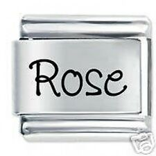 ROSE Name - 9mm Daisy Charm by JSC Fits Classic Size Italian Charms Bracelet