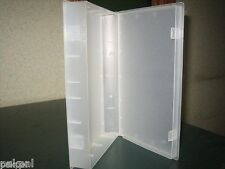 25 NEW CLEAR VIDEO CASE VHS LIBRARY CASE W/FULL SLEEVE PSV14