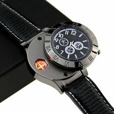 Men Watch multifunctional Electronic Quartz Military USB Cigarette Lighter GIFT