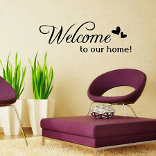 Welcome To Home Mural Quote Words Removable Wall Sticker Decal Room Home Decor
