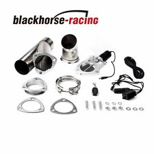"2.5"" Inch 63mm Electric Exhaust Muffler Valve Cutout System Dump Wireless Remote"