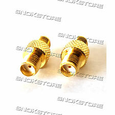 ADATTATORE ADAPTER CONNETTORE SMA FEMALE TO SMA FEMALE STRAIGHT JACK RF COAXIAL