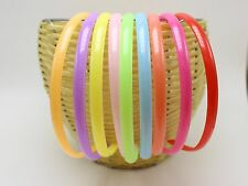 10 Mixed Color Plastic headband hair band 8mm With Teeth