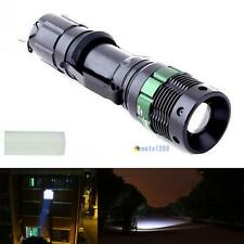 6000 Lumen Zoomable CREE XM-L Q5 LED Flashlight Focus Torch Lamp Light Black MT