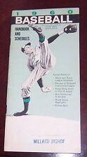 Baseball handbook and schedules 1960 Hank Aaron