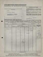 PLAUEN i. V., Rechnung 1933, Zigaretten-Frischdienst GmbH Filiale Plauen/Vogtl.