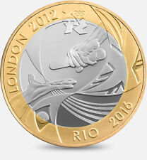 2012- £2 OLYMPIC HANDOVER LONDON 2012 TO RIO -TWO POUND COIN BI-METAL CIRCULATED