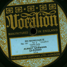ALBERT SAMMONS -Violin-  Humoresque (Dvorak) / Simple aveu (Thomé)  78rpm  G2817