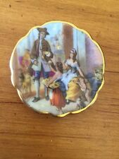 Vintage Limoges France Miniature Plate Woman Two Children Could Be Hand Painted