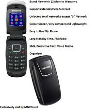 New Samsung C276 Flip Fold Easy to Use Compact Lightweight Mobile Phone - Black