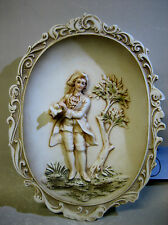 Vintage handmade pottery figurine wall decoration. KW115A