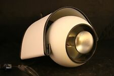 Atomic Style Pivoting Accent Light Fireplace White & Black Modern Retro-36T!