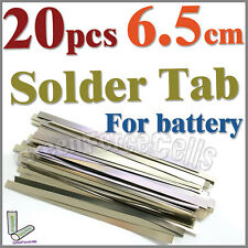 20 x  6.5cm Solder Tab For Sub C 14500 18650 battery