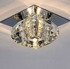 New Modern Crystal LED Warm White Ceiling Light Pendant Lamp Fixture Chandelier