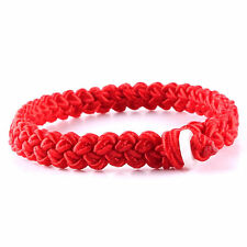 Feng Shui Handmade red string style lucky rop cord bracelet amulet for good luck
