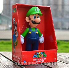 "SUPER MARIO BROTHERS TOYS LARGE SIZE 9"" LUIGI ACTION FIGURE"
