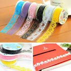 Lots 5 Roll Lace Sticky Paper Adhesive washi Tape Sticker Masking Decorative DIY