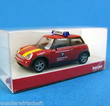 Herpa H0 045889 MINI COOPER TM BMW-Werks-Feuerwehr Regensburg OVP HO 1:87 Box