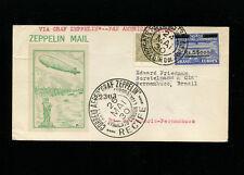 Zeppelin Sieger 59G 1st South America Flight Brazil Dispatch on zep card
