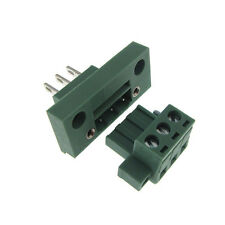 3 Positions 5.08mm Screw Terminal Block Front Flange Panel Mount Header Plug
