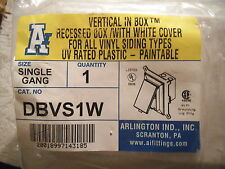 Arlington DBVS1W Electrical Box with Weatherproof Cover for Vinyl-Siding - NEW