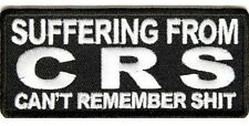 Biker Patch Suffering From CRS Leather Vest Sew/Iron Motorcycle Patch Men's