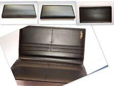 COACH Black Leather Breast Pocket Wallet Bifold Credit Card Holder for Men