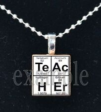 Science TEACHER Elements Scrabble Tile Necklace Charm or Keychain ~ Great Gift!