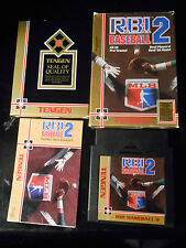 R.B.I. Baseball 2 (Nintendo NES 1990) Game w/Manual-Box-Sleeve COMPLETE & TESTED