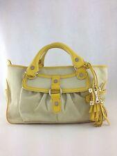 Authentic CELINE Canvas Leather tote handbag bag