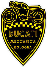 "#k116 4.5"" Ducati Meccanica Racing Classic Vintage Decal Sticker LAMINATED"
