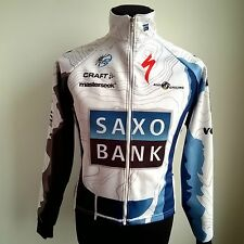 TEAM SAXO BANK 2009 PRO TOUR CYCLING SHIRT THERMAL L/S SIZE ADULT S
