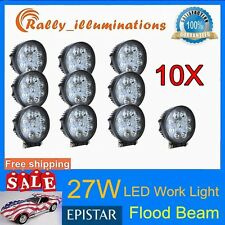 10X 27W FLOOD LED Work Light Lamp 12V 24V Tractor Truck Car SUV UTE Off-road USA