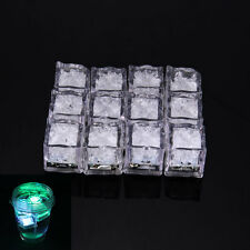 12X LED Ice Cubes Colorful Change Water Sensor Light for Bar Wedding Party