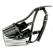 Strong Metal Wire Basket Dog Muzzle for Biting Bark Amstaff Pitbull Bull Terrie