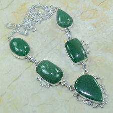 "Natural Amazonite Jasper 100% Pure 925 Sterling Silver Necklace 18.75"" #A89228"