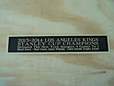 L.A. Kings 2013-14 Stanley Cup Nameplate For A Hockey Stick Case / Photo 1.25X6