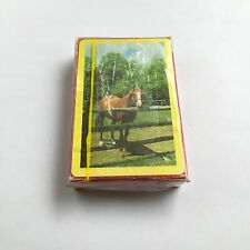 Vintage Congress Brown Horse Pack of Playing Cards