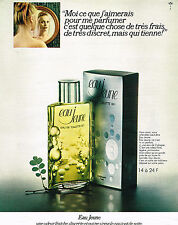 PUBLICITE ADVERTISING 094  1971  EAU JEUNE    eau de toilette