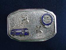 VINTAGE 1950s BUS DRIVER MOTOR COACH ELECTRIC RAILWAY UNION BELT BUCKLE
