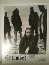 "ENTOMBED -  PROMO PICTURE - RARE - 8"" X 10""-FREE SHIPPING"